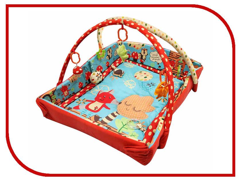 Развивающий коврик Roxy-Kids Лисичка и ее друзья с бортиками RPM-3261CE roxy kids с прицелом лягушка голубой