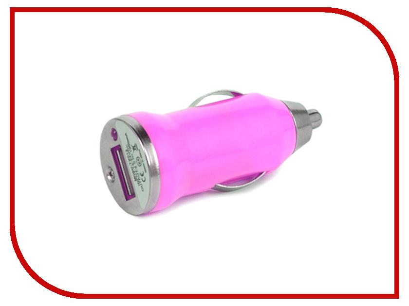 Зарядное устройство Hi-Fun Car Charger Single USB Pink<br>