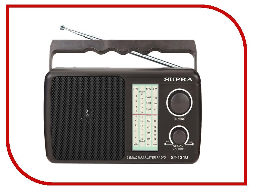 цена на Радиоприемник SUPRA ST-124U Black