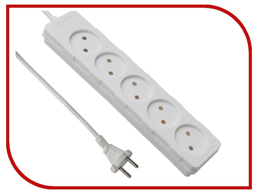 Сетевой фильтр Electraline 5 розеток 7m White 62019