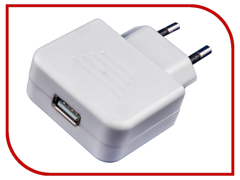 Зарядное устройство Electraline USB 5V White 55075