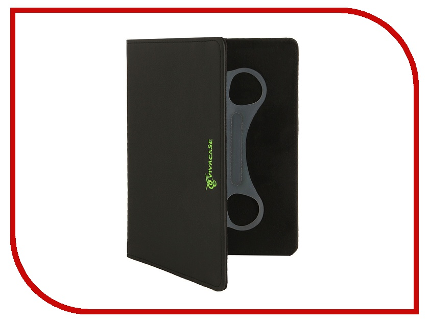 Аксессуар Чехол 9.0 Vivacase Neon универсальный Black-Green VUC-CN009-bg
