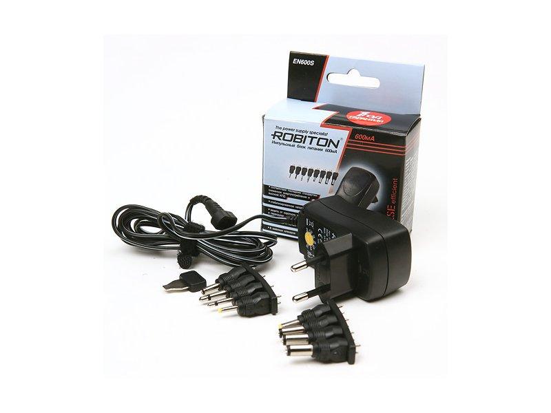 Блок питания Robiton EN600S 600mA BL1 SU-0.6-3/4.5/5/6/7.5/9/12 блок питания robiton nb70w