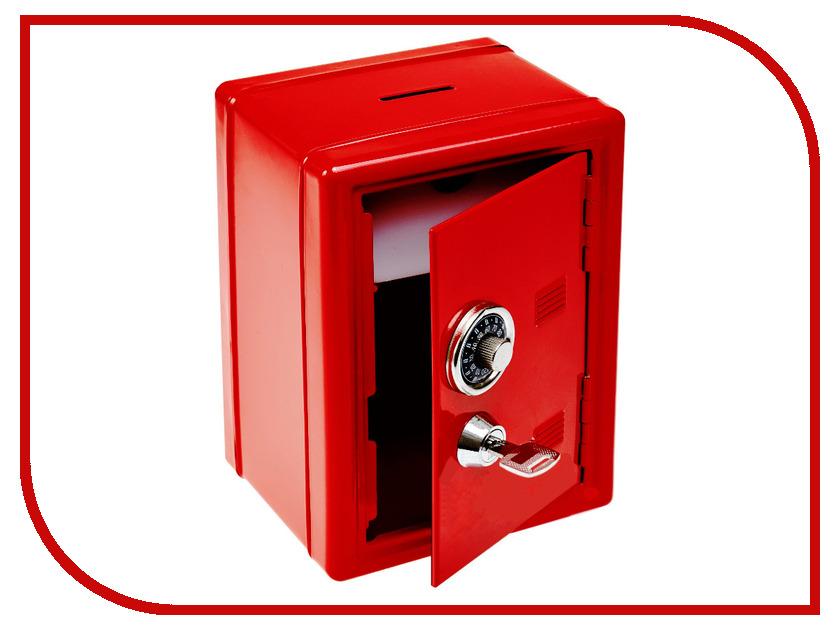 Копилка для денег Эврика Сейф с ключом Red 91647