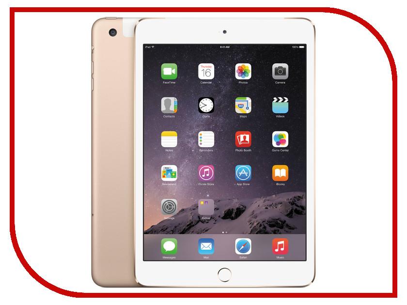 Планшет APPLE iPad mini 3 128Gb Wi-Fi + Cellular Gold MGYU2RU/A<br>