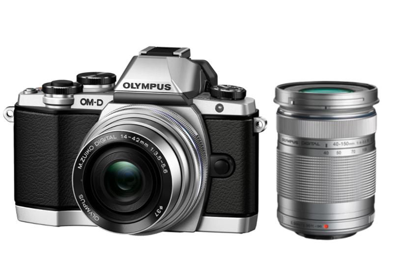 Фотоаппарат Olympus OM-D E-M10 Kit 14-42 mm II R + 40-150 mm R Silver-Black-Black