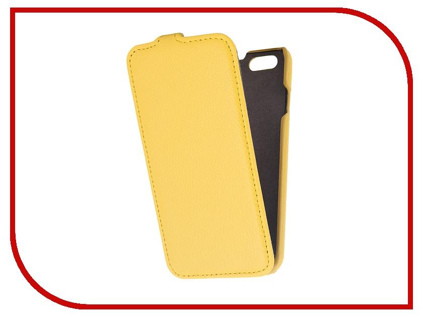 Аксессуар Чехол Partner Flip-case для iPhone 6 4.7-inch Yellow<br>