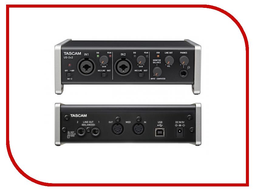 Аудиоинтерфейс Tascam US-2x2 студийные мониторы tascam vl s3bt
