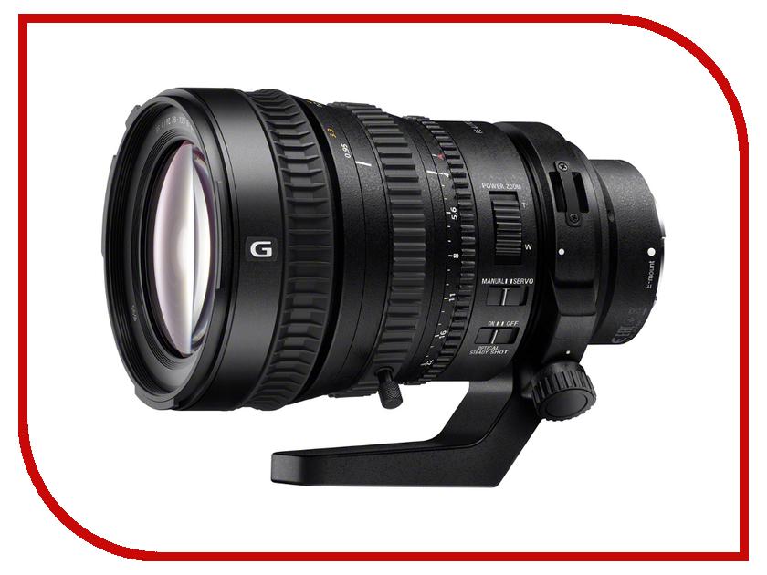 Объектив Sony SEL-P28135G 28-135 mm F/4.0 G FE PZ OSS E-mount* sony sel24240 fe 24 240mm f 3 5 6 3 oss sel24240 syx