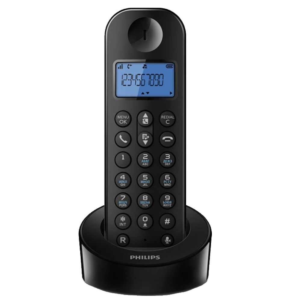 Радиотелефон Philips D 1202 B Black