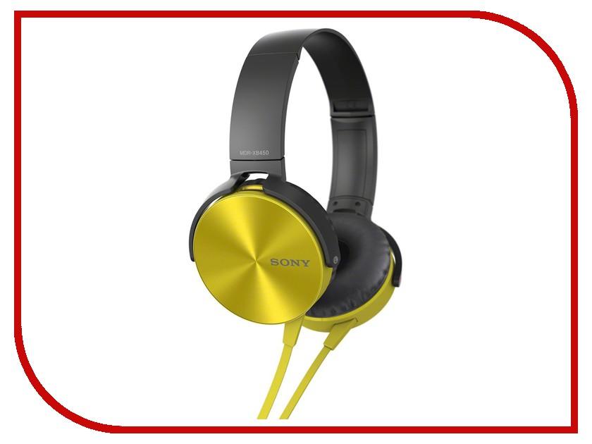 Гарнитура Sony MDR-XB450AP Yellow<br>