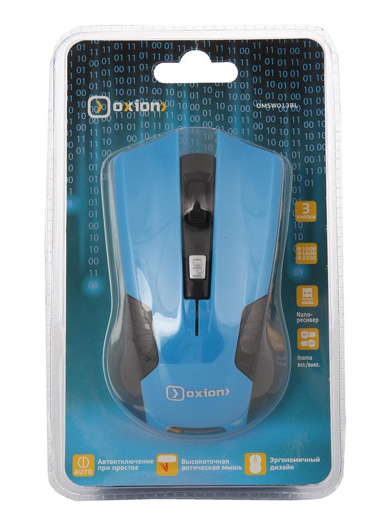 Мышь беспроводная Oxion OMSW013BL Blue