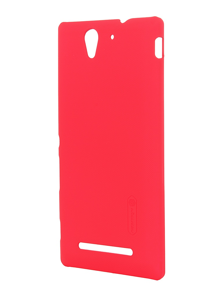 Аксессуар Чехол Sony Xperia C3 Nillkin Super Frosted Shield Red<br>