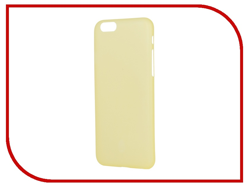 Аксессуар Чехол-накладка Stone Age 0.33mm для iPhone 6 Yellow<br>