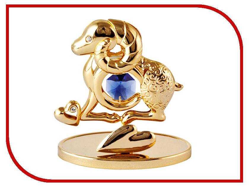 Новогодний сувенир Сувенир Crystocraft Овечка Gold-Blue U0347-001-GDBT новогодний сувенир сувенир crystocraft овечка gold u0347 001 gc1t