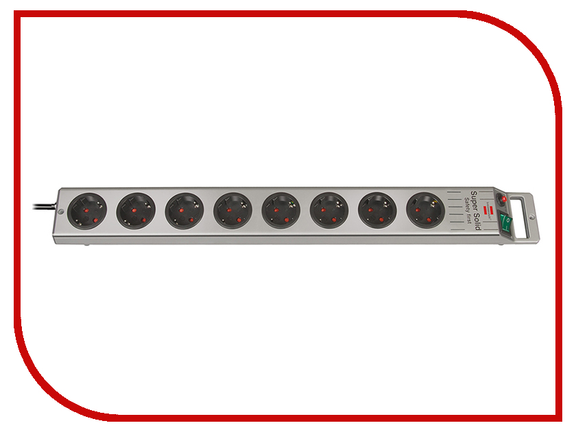 Сетевой фильтр Brennenstuhl Super-Solid Line 8 Sockets 2.5m 1153340118<br>