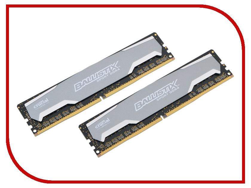 Модуль памяти Crucial DDR4 DIMM 2400MHz PC4-19200 - 2x8Gb BLS2C8G4D240FSA