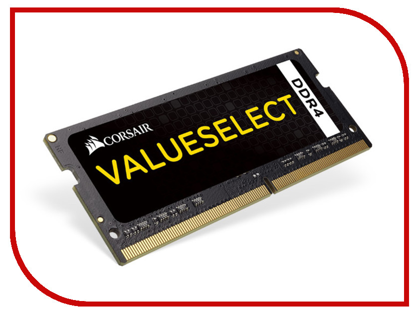 Модуль памяти Corsair ValueSelect DDR4 SO-DIMM 2133MHz PC4-17000 CL15 - 16Gb CMSO16GX4M1A2133C15<br>