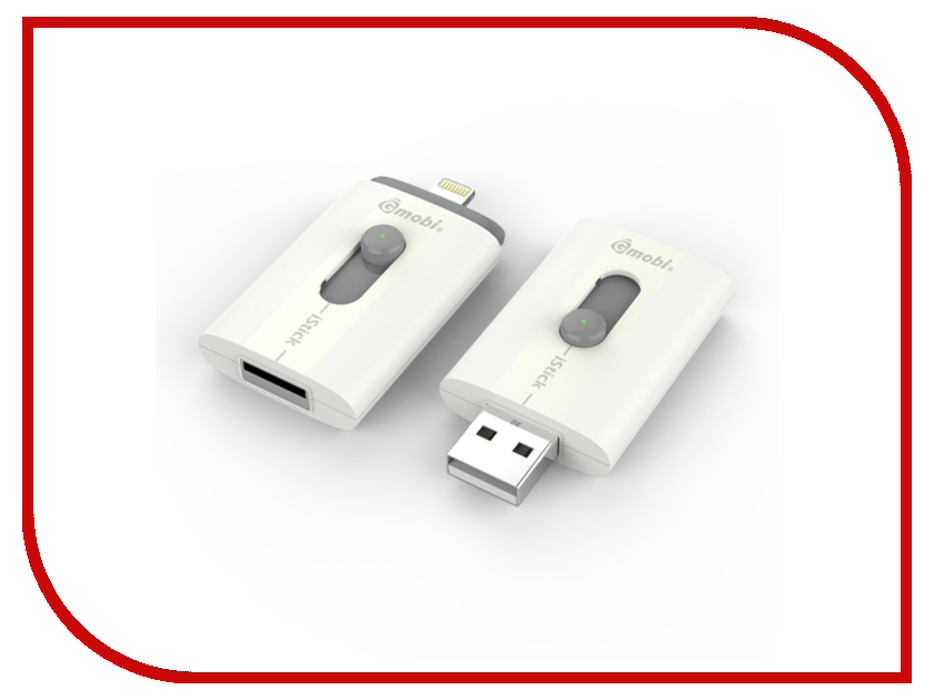 USB Flash Drive 8Gb - PQI Gmobi iStick 608L-008GR102A модуль памяти patriot memory ddr3 dimm 1600mhz pc3 12800 2gb psd32g16002 81