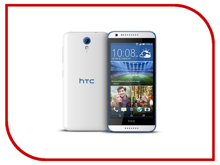 Сотовый телефон HTC Desire 620G Glossy White-Blue htc u ultra sapphire blue 64gb