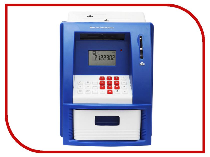 Копилка для денег Эврика Банкомат 91910 Blue копилка электронная банкомат цвет красный