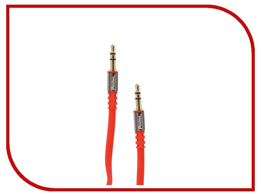 Аксессуар Partner AUX 3.5 Jack 1.2m Red ПР031655<br>