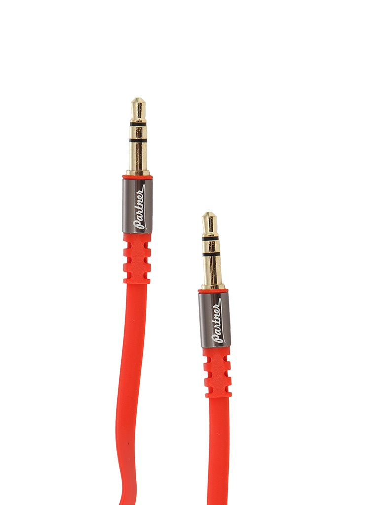 Аксессуар Partner AUX 3.5 Jack 1.2m Red ПР031655