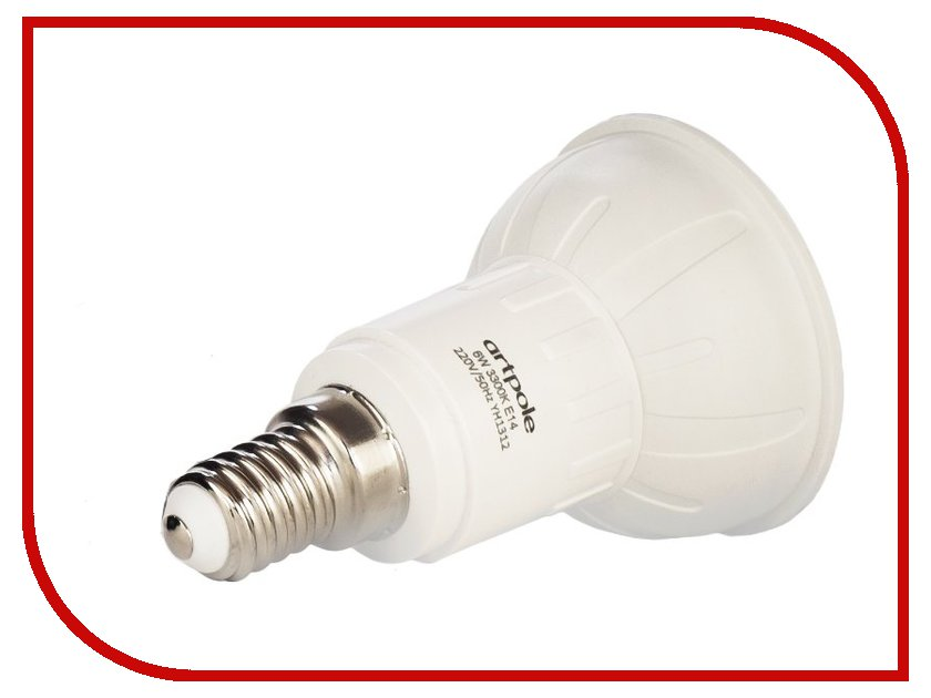 Лампочка Artpole JDRAP 6W 6500K 220V E14 004435<br>