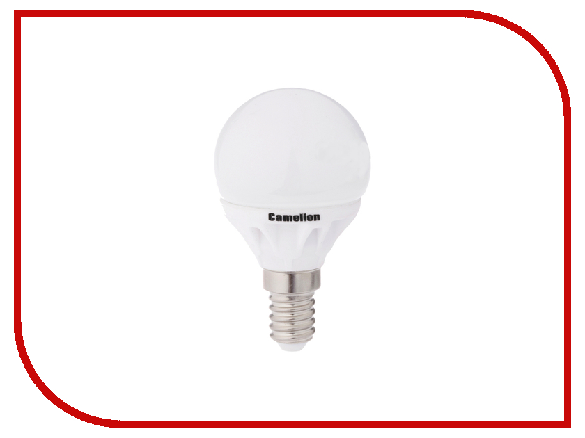 Лампочка Camelion G45 5.5W 220V E14 3000K 445 Lm LED5.5-G45-CL/830/E14