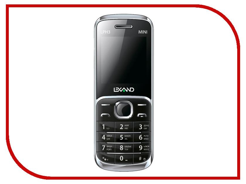 Сотовый телефон Lexand Mini LPH-3 Black мобильный телефон lexand lph1 mini белый 1 44