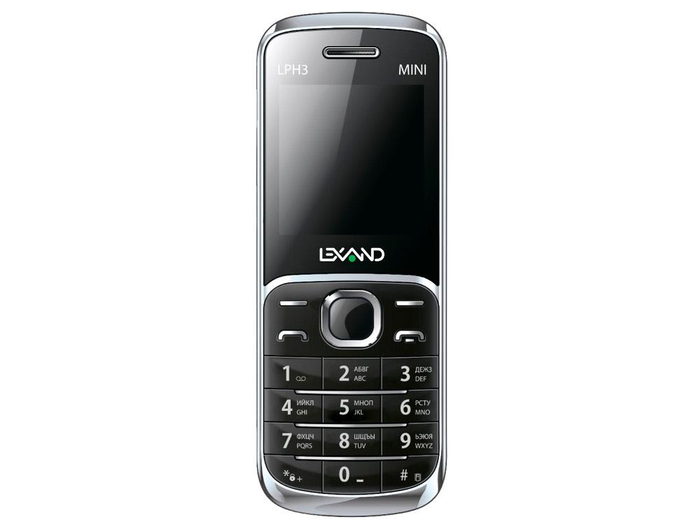 Сотовый телефон Lexand Mini LPH-3 Black<br>