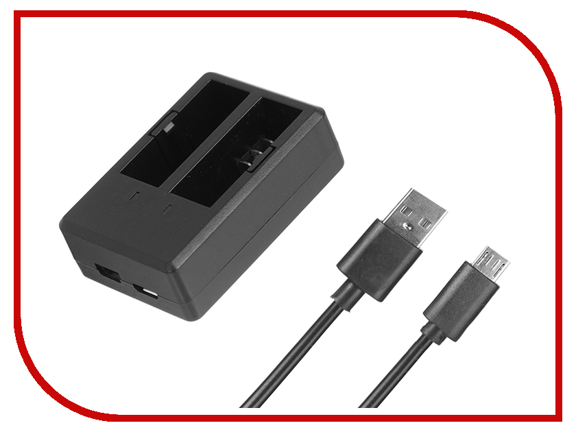 цена на Аксессуар SJCAM SJ-AKB SJ4000 / SJ4000 Wi-Fi зарядное устройство для аккумулятора