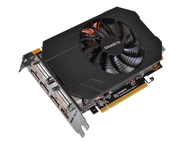 Видеокарта GigaByte GeForce GTX 970 1076Mhz PCI-E 3.0 4096Mb 7000Mhz 256 bit 2xDVI HDMI HDCP GV-N970IXOC-4GD<br>