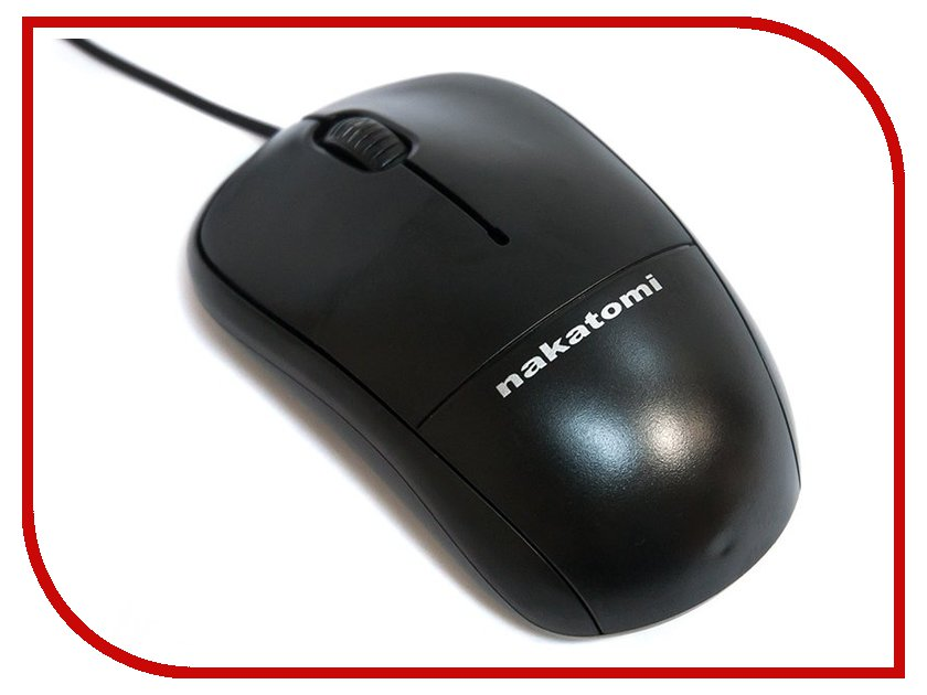 Мышь проводная Nakatomi MON-05P Black PS/2<br>