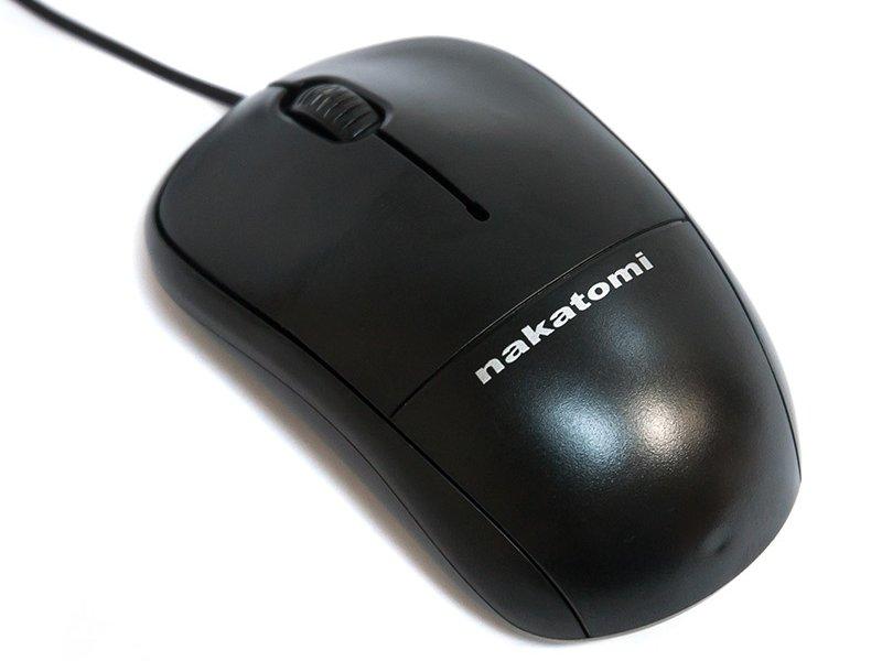 Мышь проводная Nakatomi MON-05P Black PS/2