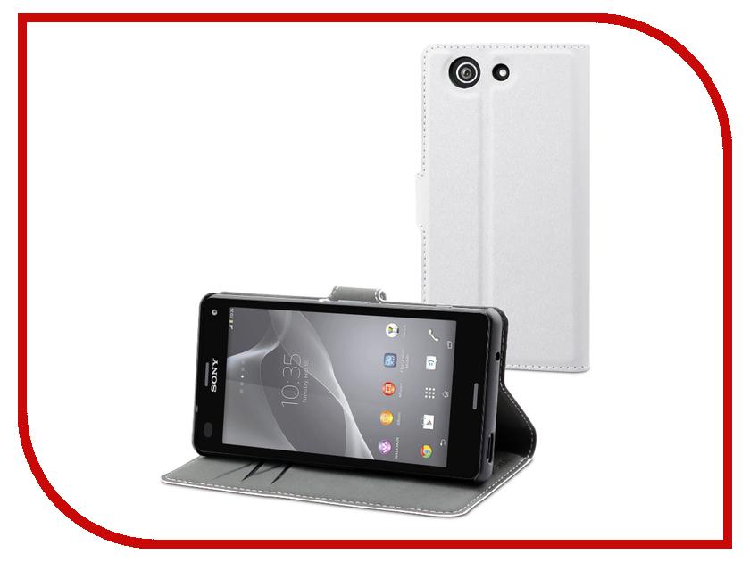 Аксессуар Чехол Sony Xperia Z3 Compact Muvit MFX Wallet Folio Case White SEWAL0006<br>
