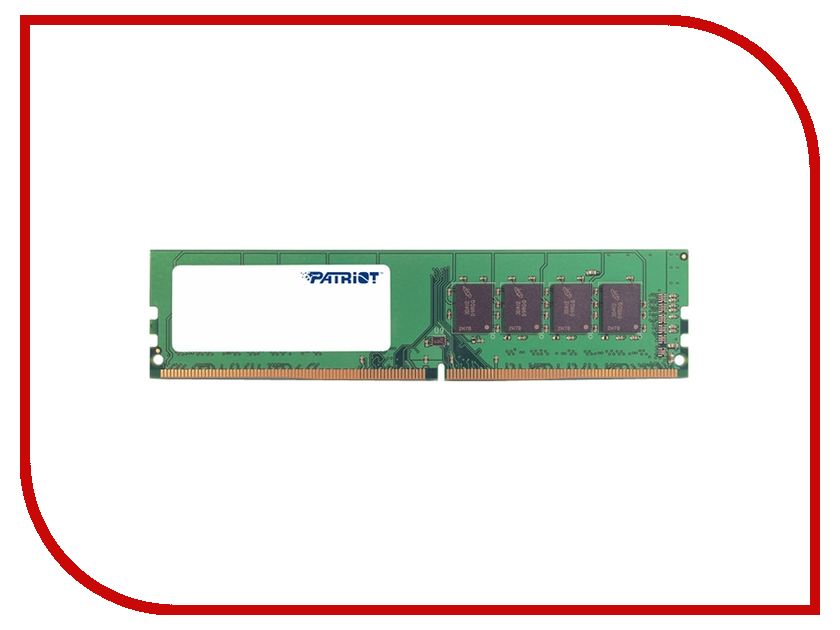 Модуль памяти Patriot Memory DDR4 DIMM 2133MHz PC4-17000 - 8Gb PSD48G213381 patriot memory psd48g21332