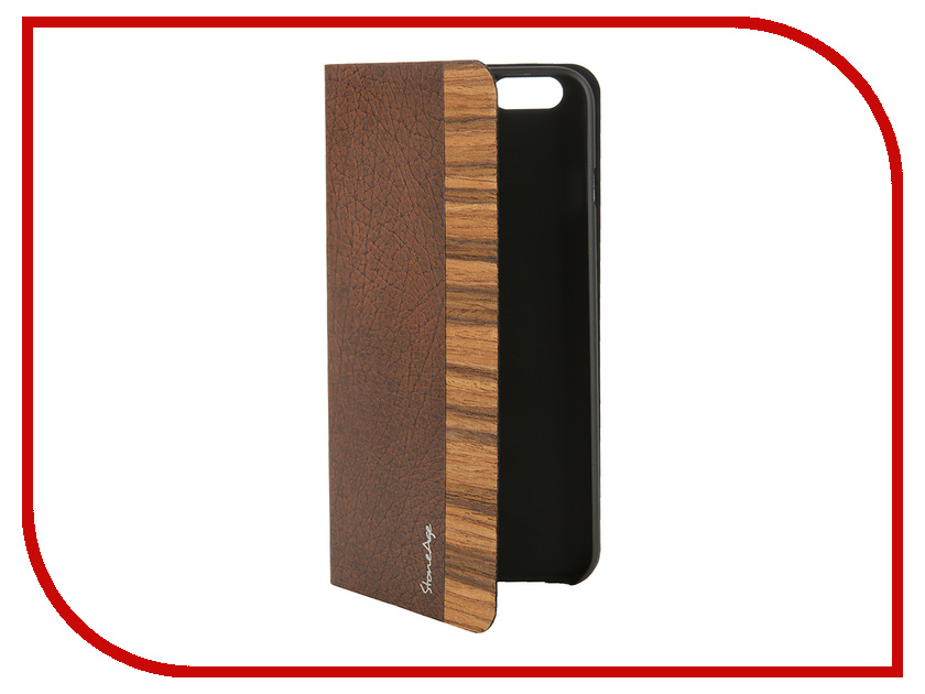 Аксессуар Чехол Stone Age Jungle Collection Wood Skin для iPhone 6 Plus кожа Brown W8582<br>