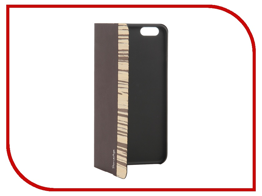 Аксессуар Чехол-накладка Stone Age Jungle Collection Wood Skin for iPhone 6 Plus Brown<br>