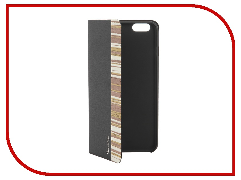 Аксессуар Чехол-накладка Stone Age Jungle Collection Wood Skin for iPhone 6 Plus Black W8580<br>
