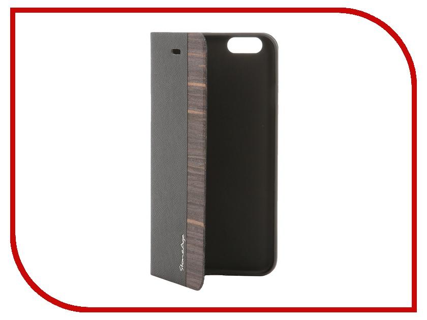 Аксессуар Чехол-накладка Stone Age Jungle Collection Wood Skin for iPhone 6 Brown<br>