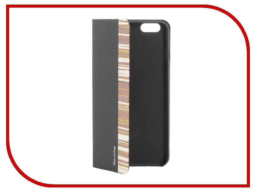 Аксессуар Чехол-накладка Stone Age Jungle Collection Wood Skin for iPhone 6 Black аксессуар чехол stone age jungle collection wood skin для iphone 6 plus кожа brown w8582