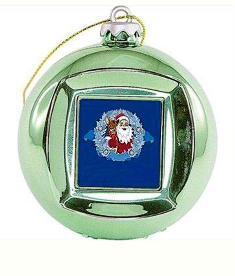 Новогодний сувенир Mister Christmas Frame Ball/5 Green