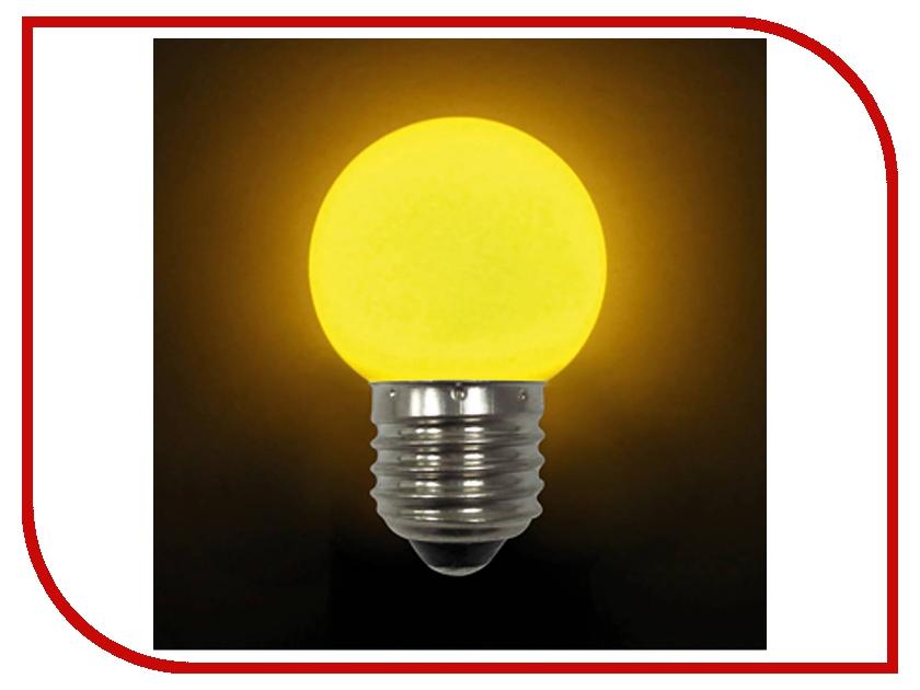 Лампочка Mister Christmas LB-45-YELLOW E27 Yellow