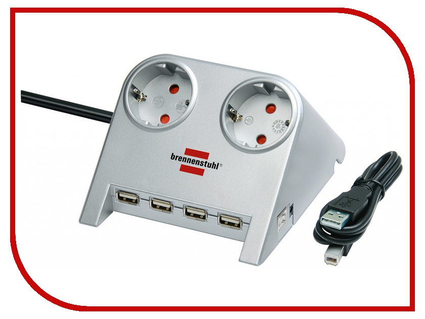 Сетевой фильтр Brennenstuhl Desktop-Power 2 Sockets 1.8m 1153540122<br>