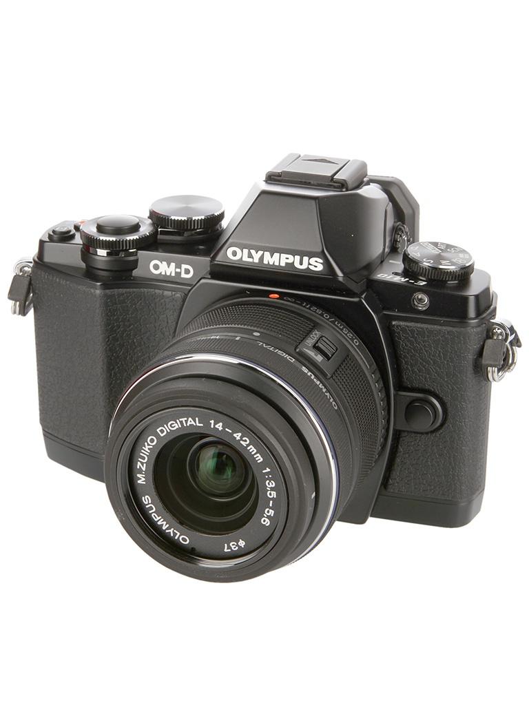 Фотоаппарат Olympus OM-D E-M10 Kit 14-42 mm II R + 40-150 mm R Black-Black-Black<br>