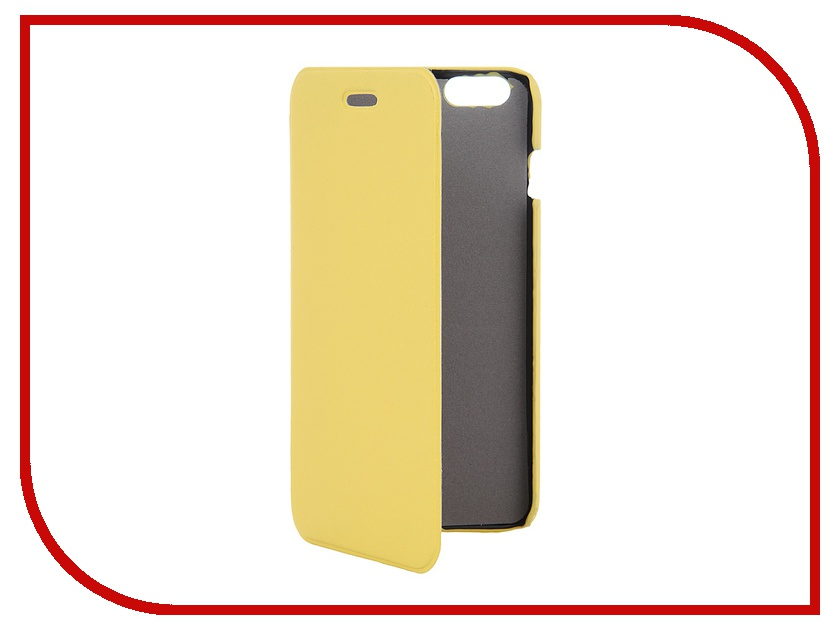 Аксессуар Чехол Clever Case ShellCase for iPhone 6 Plus PU Yellow<br>