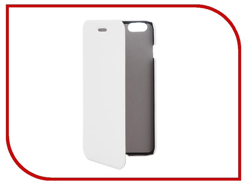 Аксессуар Чехол Clever Case ShellCase for iPhone 6 Plus PU White