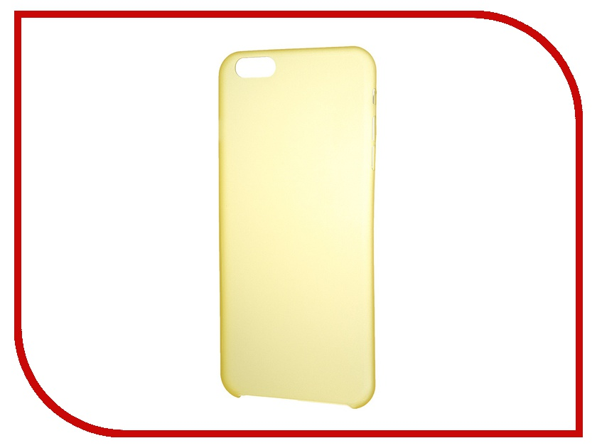 Аксессуар Чехол-накладка Clever Ultralight Cover for iPhone 6 Plus Yellow<br>