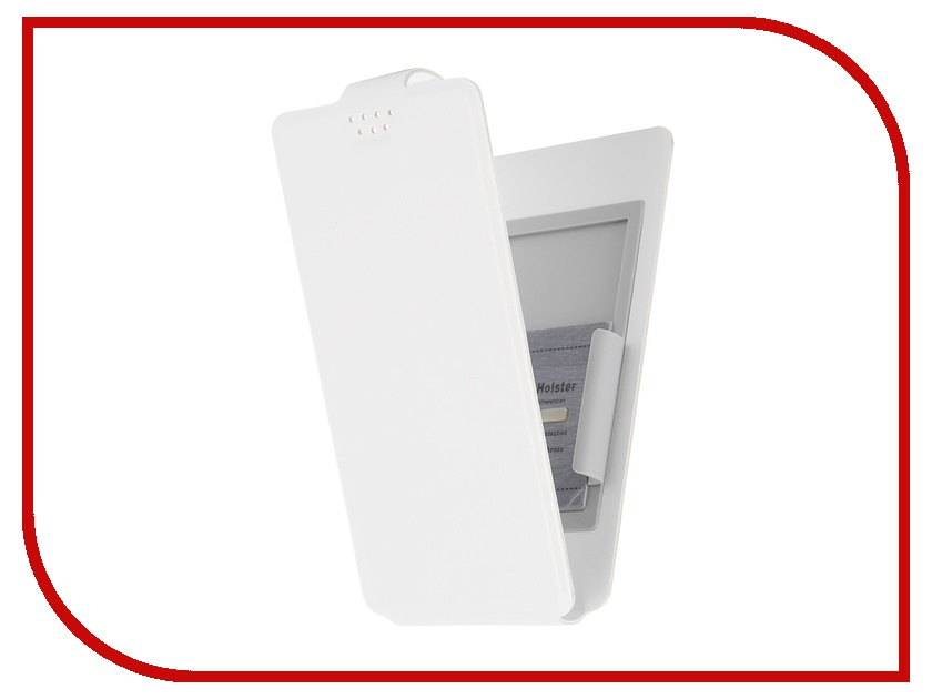 Аксессуар Чехол-флип Clever SlideUP M 4.4-5.0-inch универсальный иск. кожа White<br>